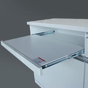 キッチンカウンター スライド棚